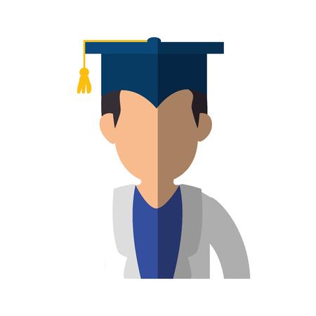Symbole de chapeau de graduation Banque d'images - 78060831