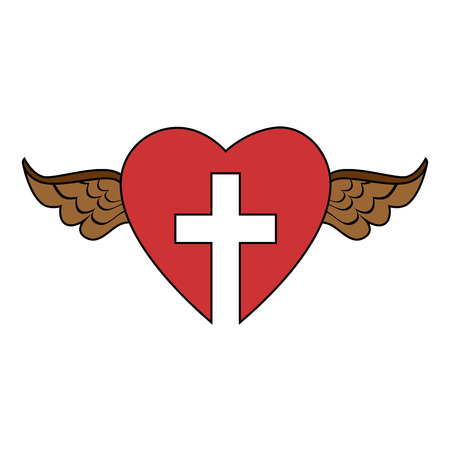 Christian cross symbol Ilustração