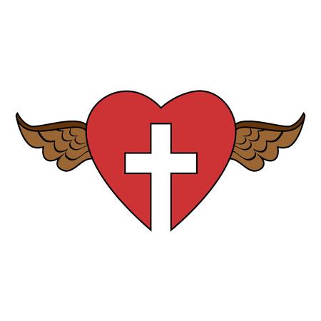 Christian cross symbol 向量圖像