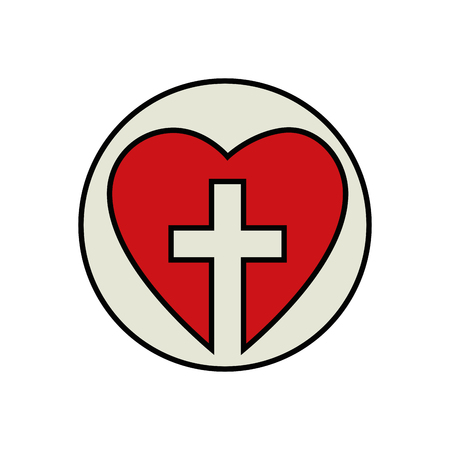 Christelijk kruis symbool Stockfoto - 78060861