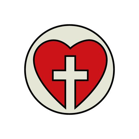 Christian cross symbol 版權商用圖片 - 78060861