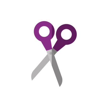 Schaar uit vector ilustratie symbool tailor icoon Stock Illustratie