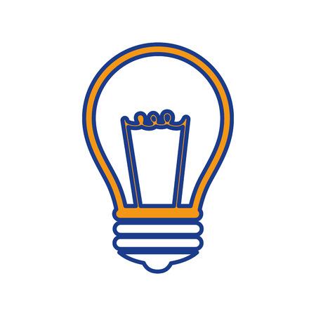 bulb light icon over white background. vector illustration Illustration