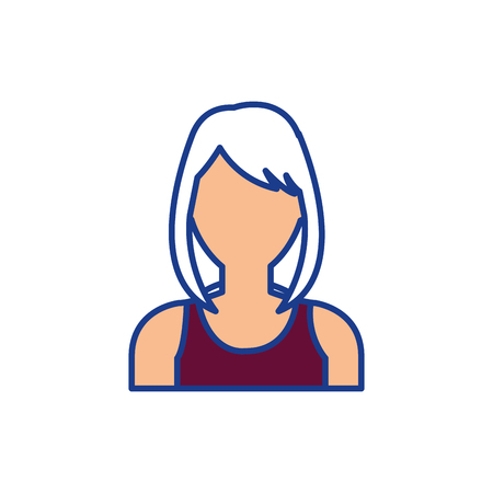 woman avatar icon over white background. colorful design. vector illustration