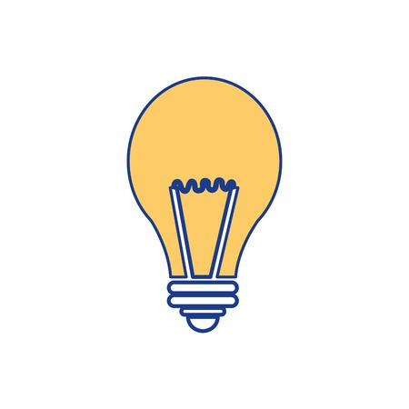 흰색 배경 위에 전구 빛 아이콘입니다. 벡터 일러스트 레이 션