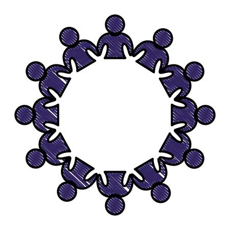 Menschen Emblem Symbol auf weißem Hintergrund . Vektor-Illustration Vektorgrafik