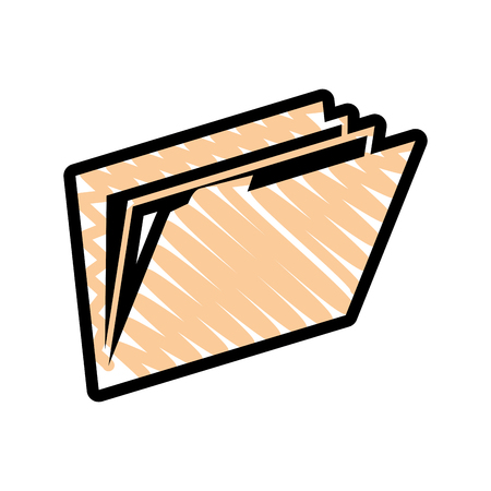 document folder icon over white background. vector illustration Ilustração