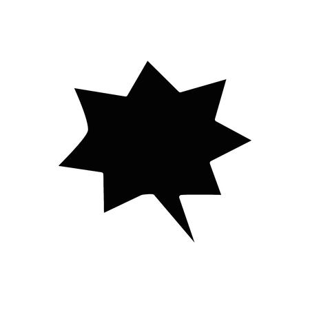Tekstballon pictogram op witte achtergrond. vectorillustratie Stockfoto - 78061497