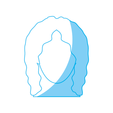 woman with curley hair icon over white background. vector illustration Illustration
