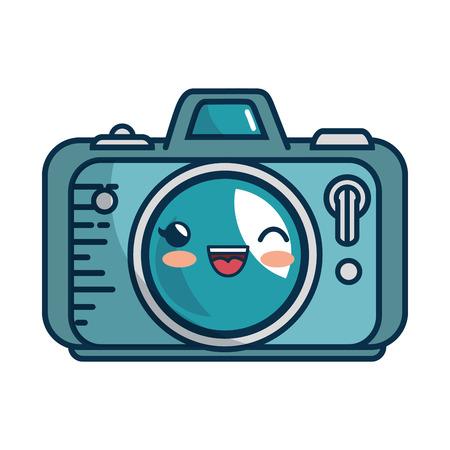 camera icon over white background. colorful design. vector illustration