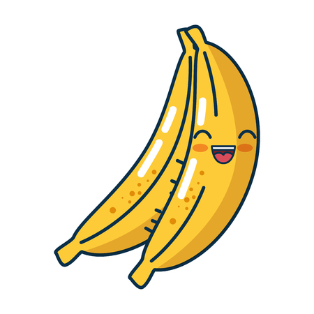 bananas fruit icon over white background. colorful design. vector illustration