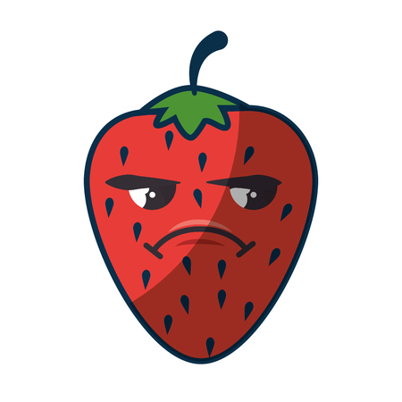 strawberry fruit icon over white background. colorful design. vector illustration Illustration