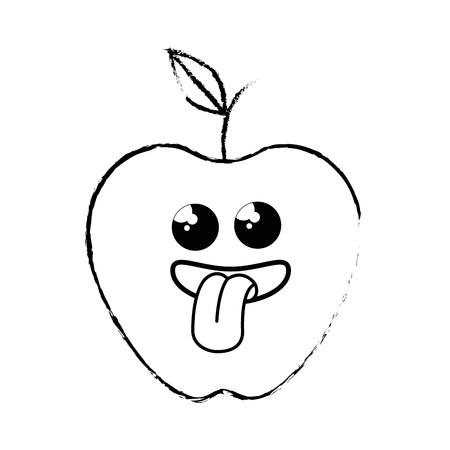 apple fruit icon over white background. vector illustration Illustration