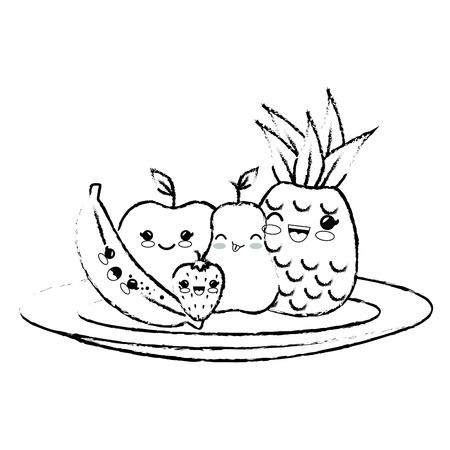 fruits icon over white background. vector illustration Illustration