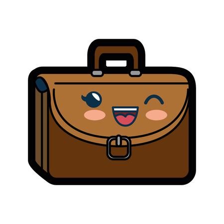 briefcase icon over white background. colorful design. vector illustration