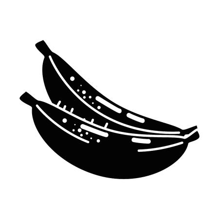 bananas fruit icon over white background. vector illustration Stock Vector - 78088077