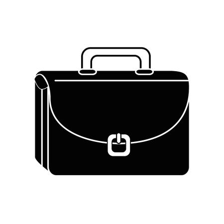 Zakelijke aktetas icoon op witte achtergrond. vector illustratie