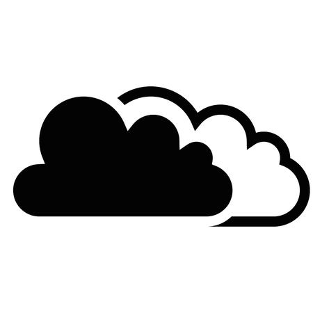 clouds icon over white background. vector illustration Illustration