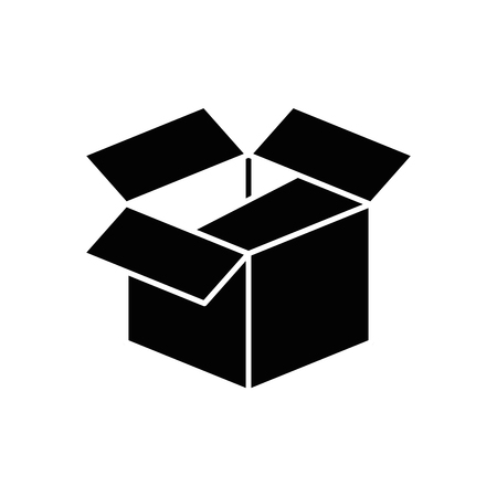 A box icon over white background. vector illustration