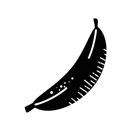 A banana fruit icon over white background. vector illustration Illustration