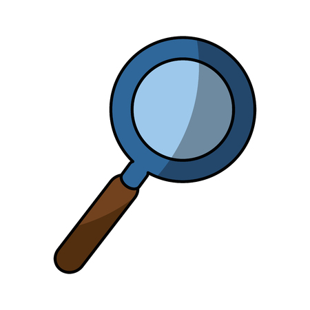 A magnifying glass icon over white background. vector illustration