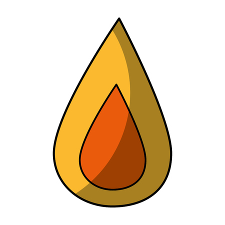 Fire flame icon over white background. vector illustration Illustration