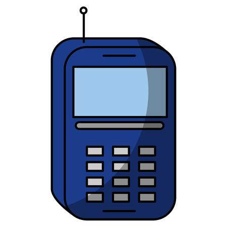 phone device icon over white background. vector illustration Illustration