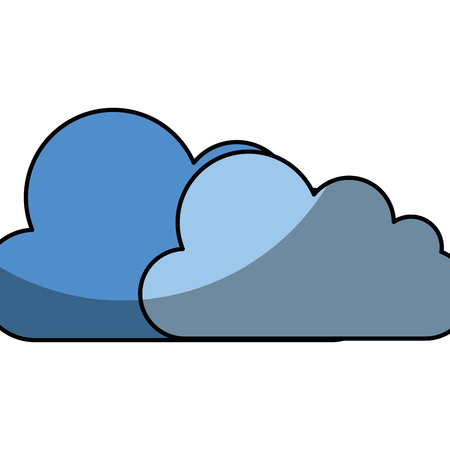 clouds icon over white background. vector illustration 向量圖像