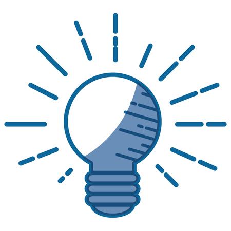 bulb light icon over white background. vector illustration Иллюстрация