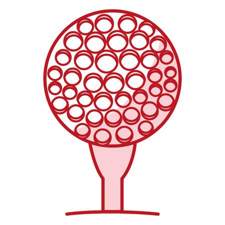 golf sport ball icon vector illustration design