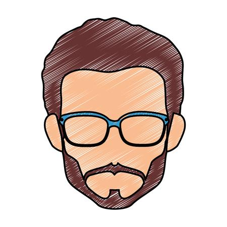 Junger Mann Profil-Symbol Vektor-Illustration Grafik-Design Standard-Bild - 78104749