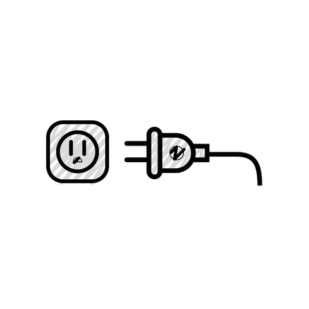 Electric plug symbol icon vector illustration graphic design