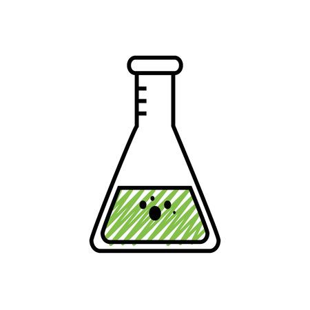 Chemistry flask glass icon vector illustration graphic design Illustration