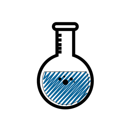 Chemistry flask glass icon vector illustration graphic design Illustration