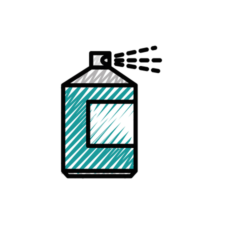 Paint spray bottle icon vector illustration graphic design Иллюстрация