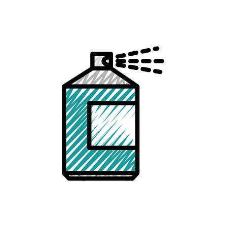 Van de de flessenpictogram van de verfnevel vector de illustratie grafisch ontwerp