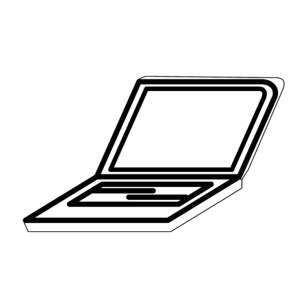 Laptop pc technology icon vector illustration graphic design 向量圖像
