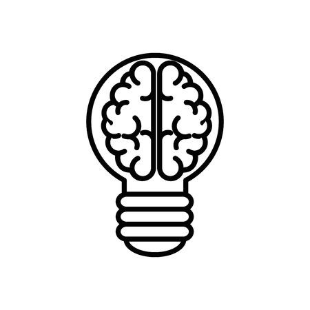Big idea bulb symbol icon vector illustration graphic design Illustration