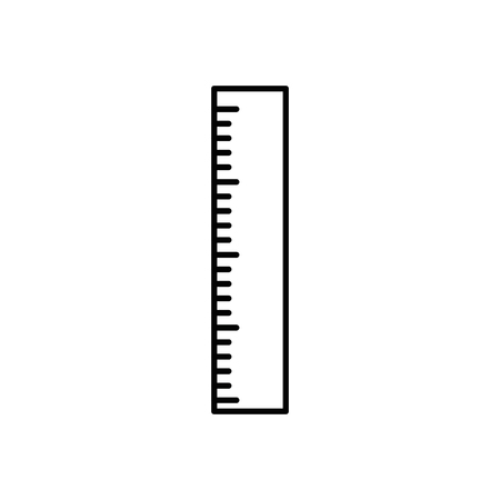 Ruler measurement tool icon vector illustration graphic design