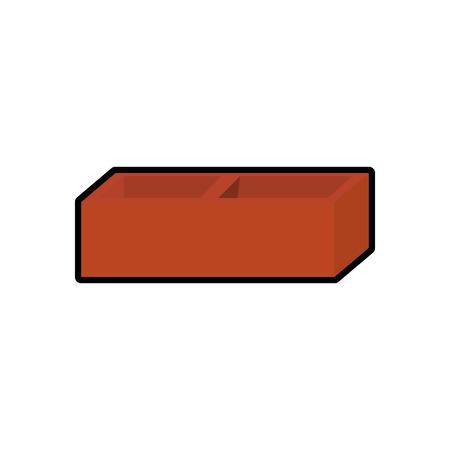 Icône de mur de briques sur fond blanc. illustration vectorielle Banque d'images - 78178335