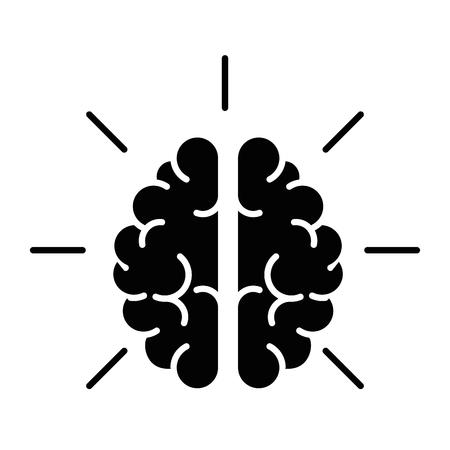 Human brain symbol icon vector illustration graphic design Stock Vector - 78178214