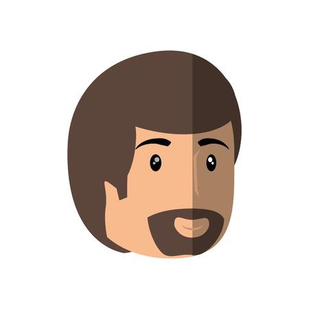 hapiness: Man smiling cartoon icon vector illustration graphic design