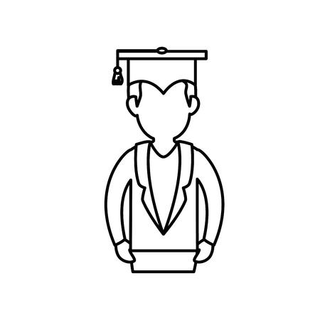 Chapeau de graduation icône de symbole illustration vectorielle design graphique Banque d'images - 78178424