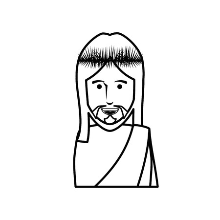 Jesuschrist face cartoon icon vector illustration graphic design Imagens - 78178426