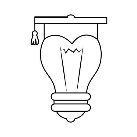 Chapeau de graduation icône de symbole illustration vectorielle design graphique Banque d'images - 78178430