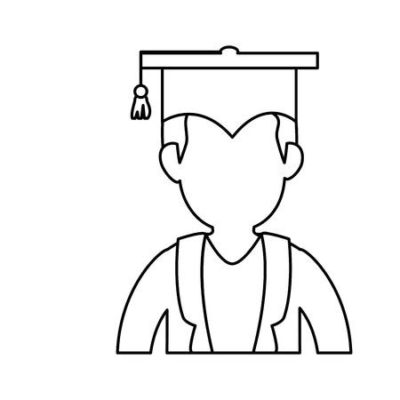 卒業帽子シンボル アイコン ベクトル イラスト グラフィック デザイン