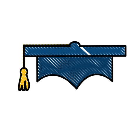Chapeau de graduation icône de symbole illustration vectorielle design graphique Banque d'images - 78178475