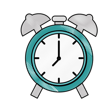 Alarm clock isolated icon vector illustration graphic design