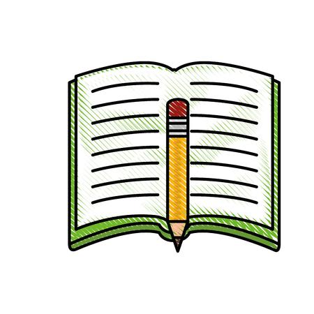 Book open symbol icon vector illustration graphic design Illustration
