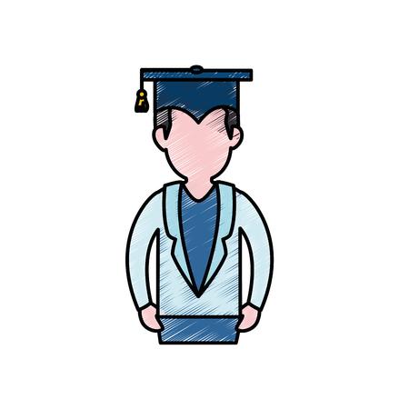 Chapeau de graduation icône de symbole illustration vectorielle design graphique Banque d'images - 78179479